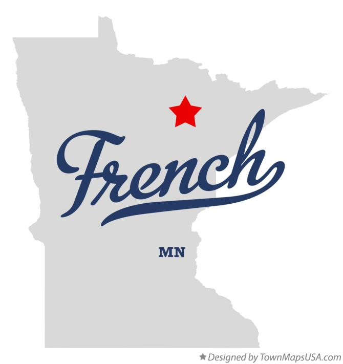 Map of French Minnesota MN