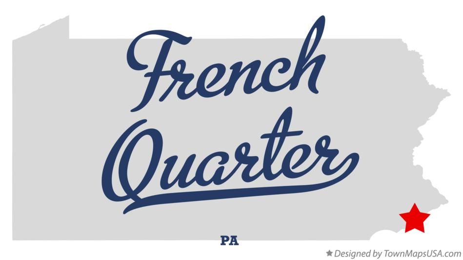 Map of French Quarter Pennsylvania PA