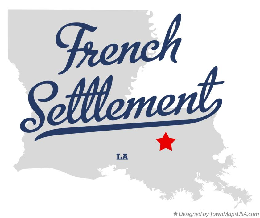 Map of French Settlement Louisiana LA