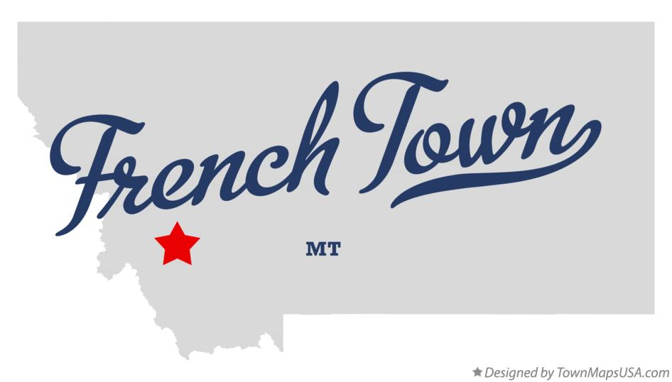 Map of French Town Montana MT