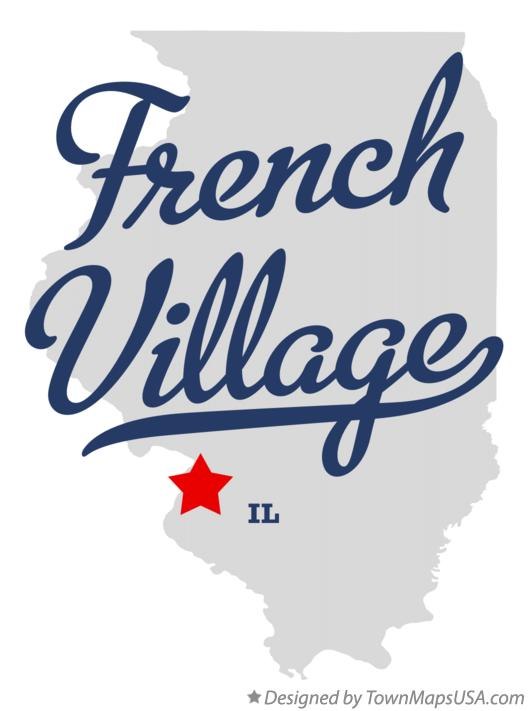 Map of French Village Illinois IL