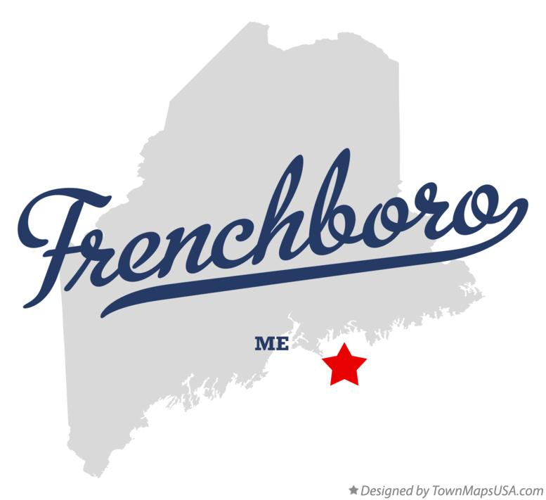 Map of Frenchboro Maine ME