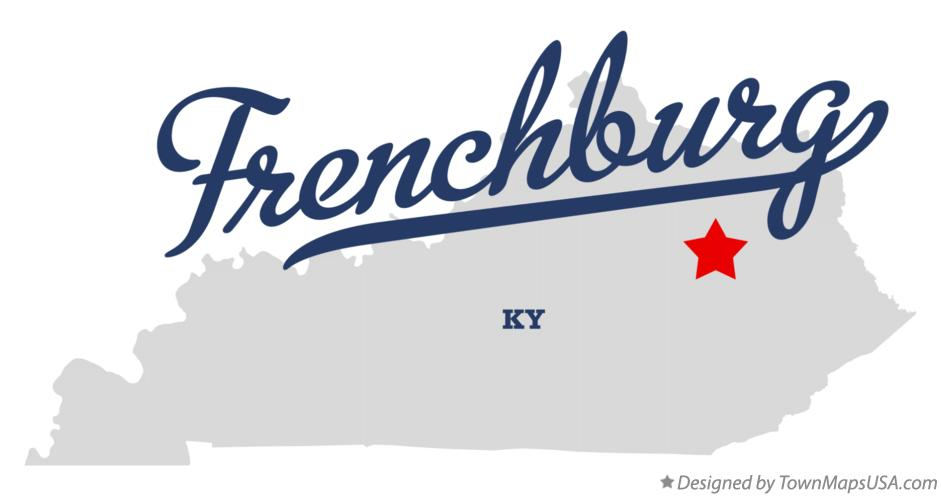 Map of Frenchburg Kentucky KY