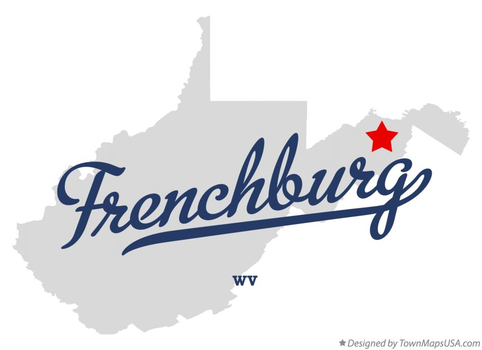 Map of Frenchburg West Virginia WV