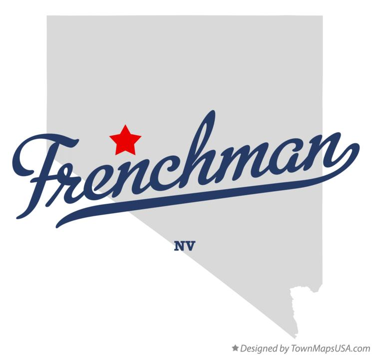 Map of Frenchman Nevada NV
