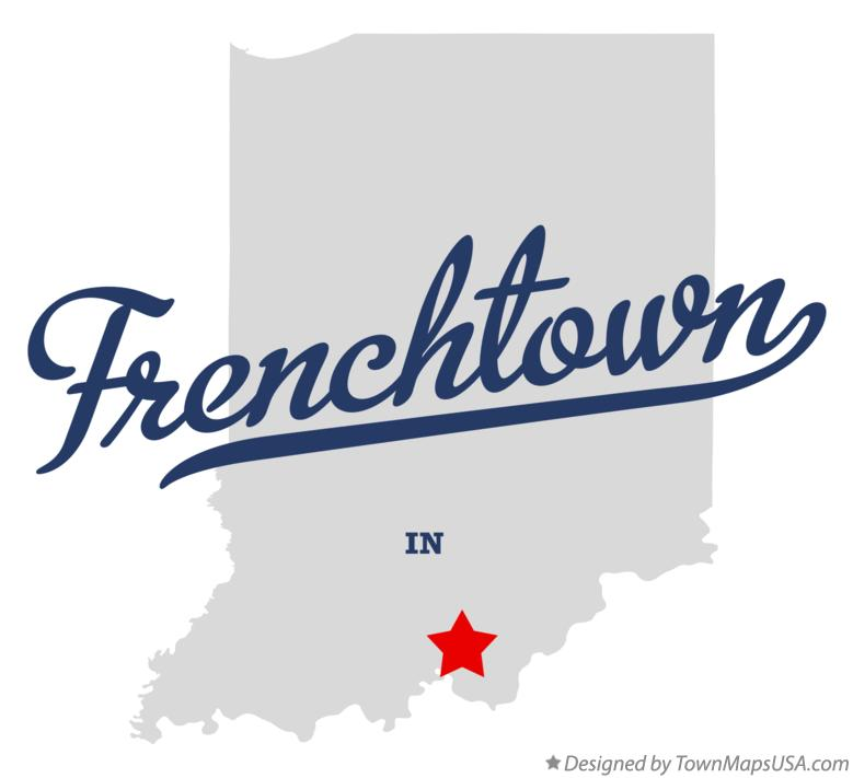 Map of Frenchtown Indiana IN