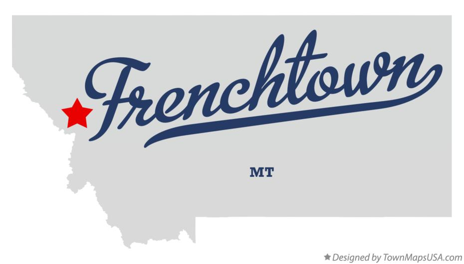 Map of Frenchtown Montana MT