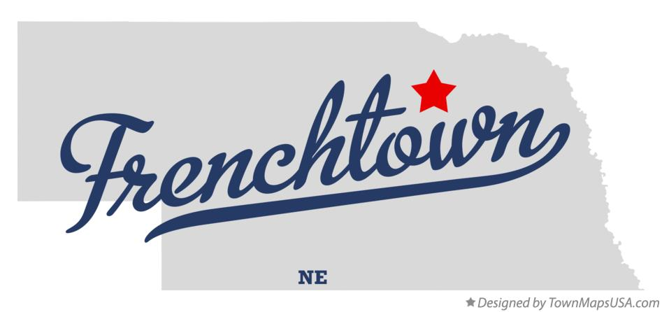 Map of Frenchtown Nebraska NE