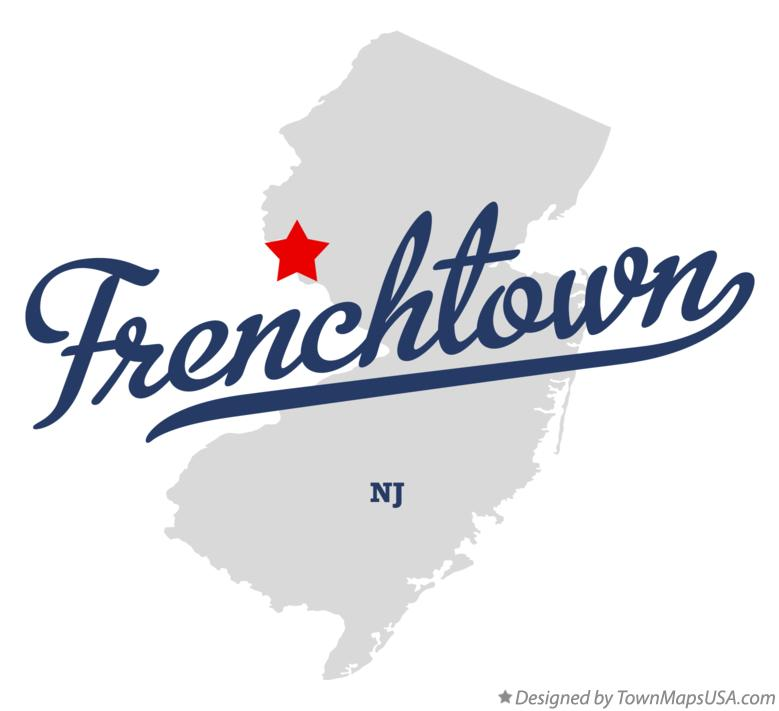Map of Frenchtown New Jersey NJ