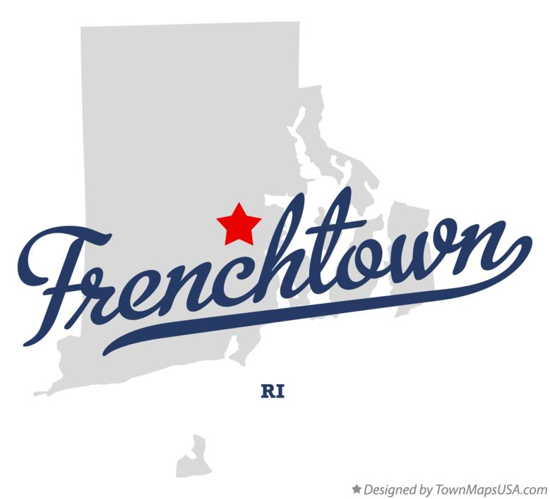 Map of Frenchtown Rhode Island RI