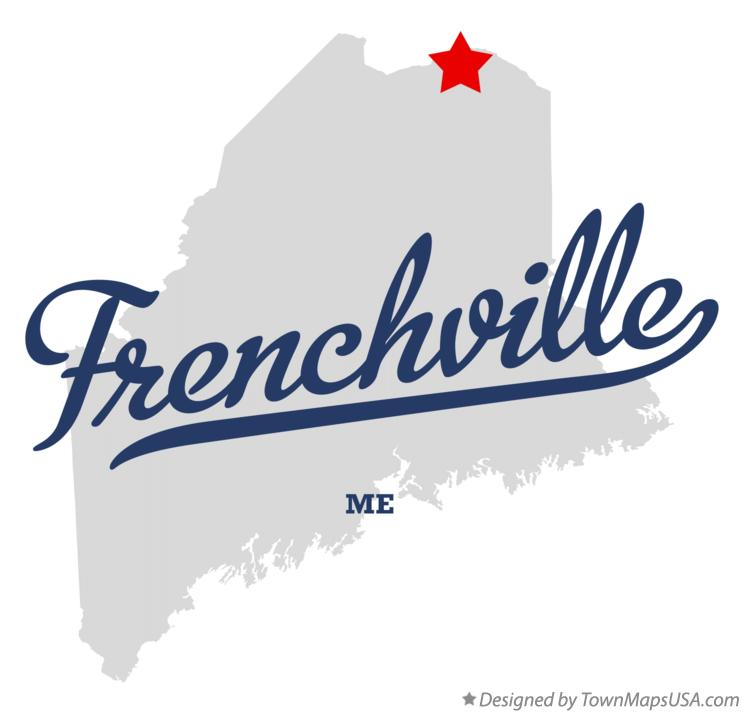 Map of Frenchville Maine ME