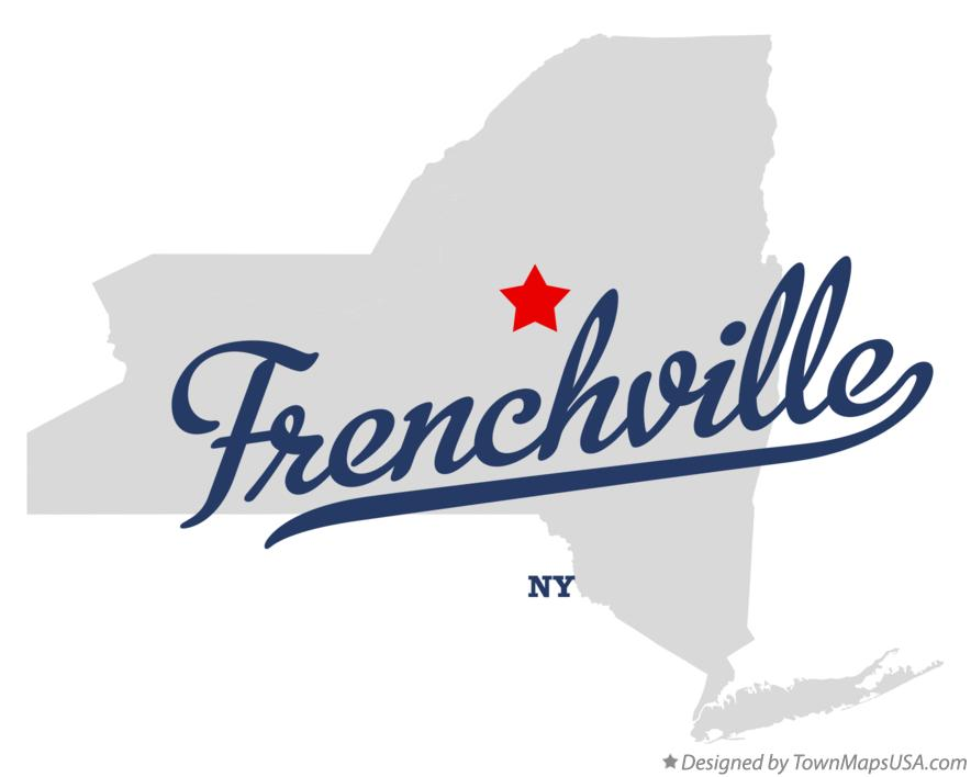 Map of Frenchville New York NY