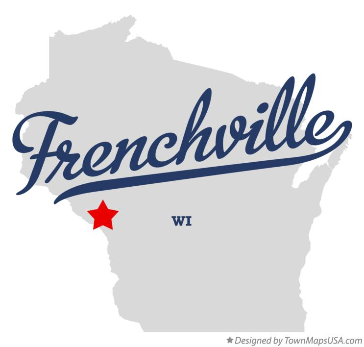 Map of Frenchville Wisconsin WI