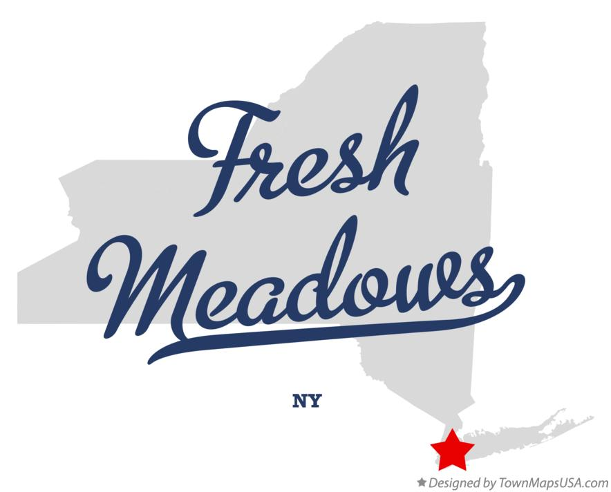 Map of Fresh Meadows New York NY