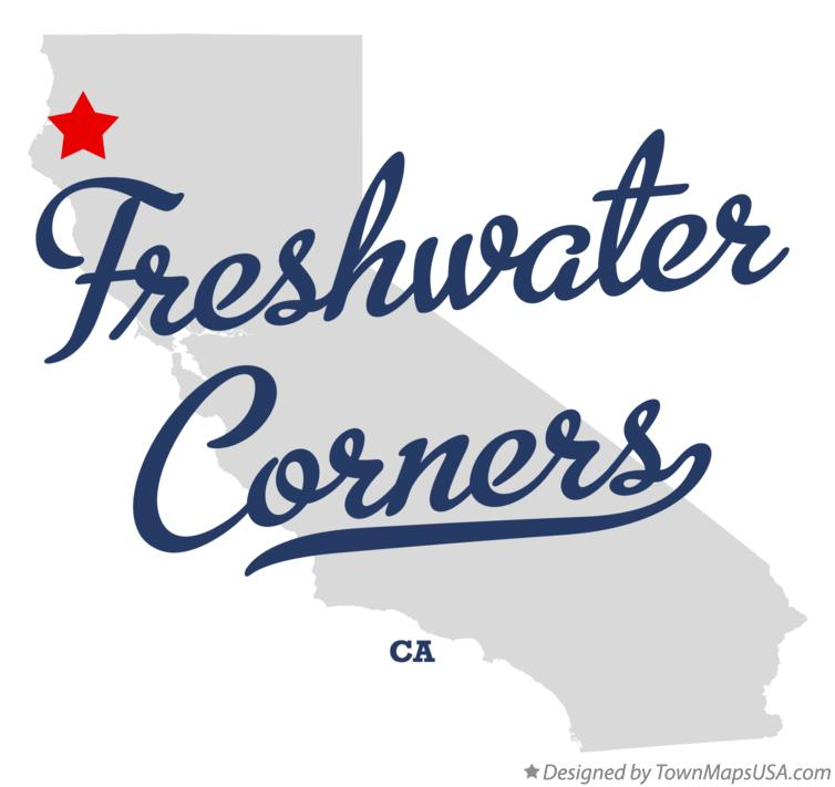 Map of Freshwater Corners California CA