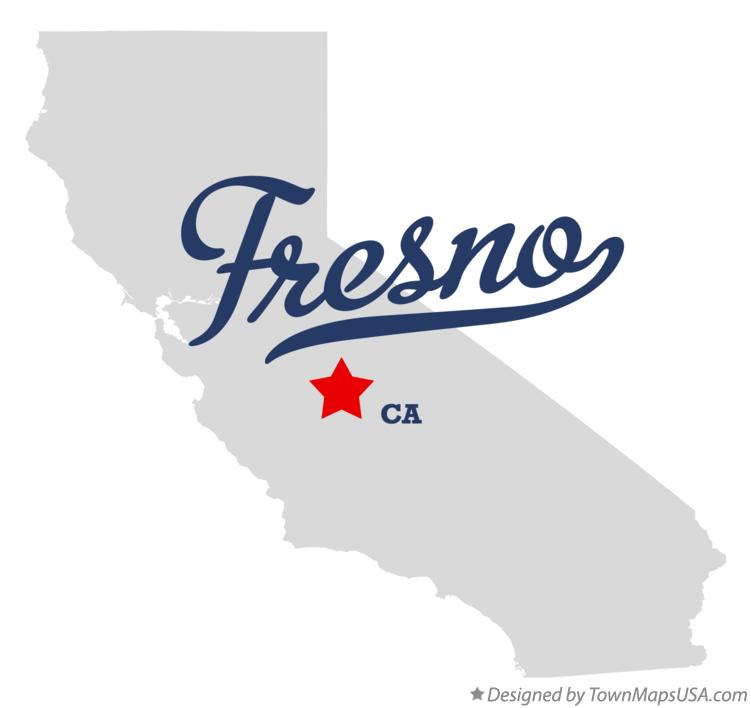 Map of Fresno CA California