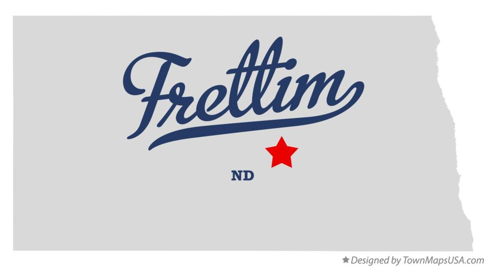 Map of Frettim North Dakota ND