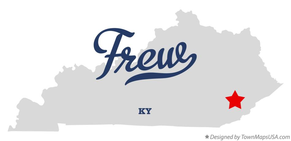 Map of Frew Kentucky KY
