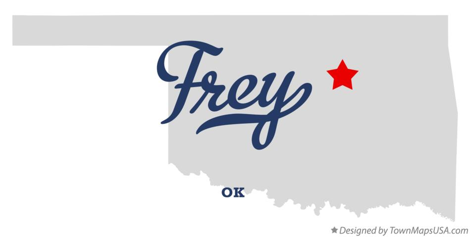 Map of Frey Oklahoma OK