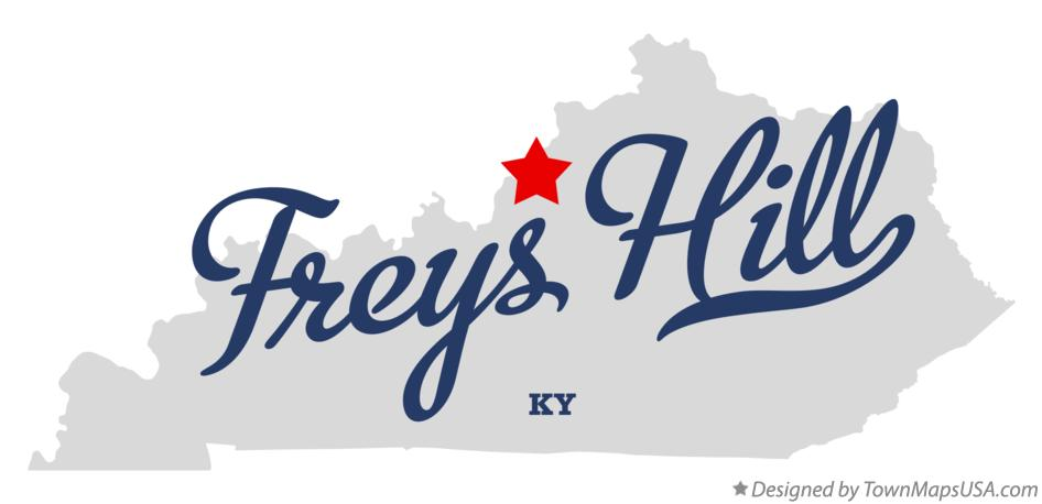 Map of Freys Hill Kentucky KY