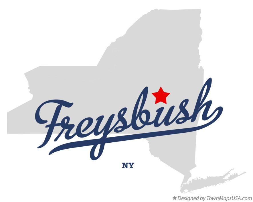 Map of Freysbush New York NY