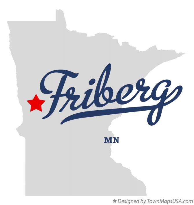 Map of Friberg Minnesota MN