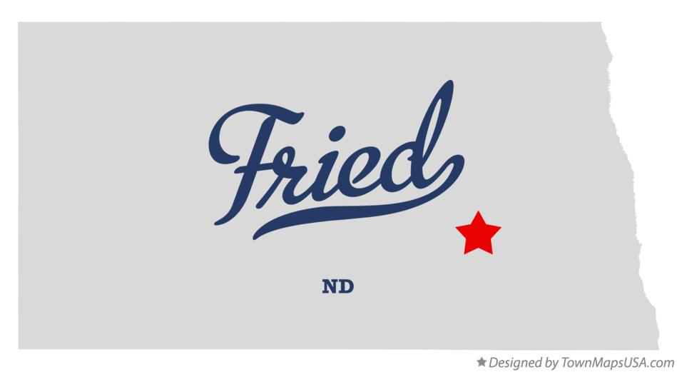 Map of Fried North Dakota ND