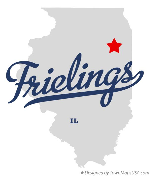 Map of Frielings Illinois IL