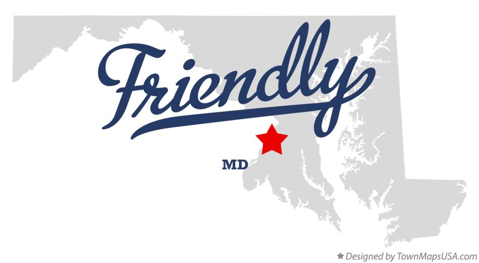 Map of Friendly Maryland MD