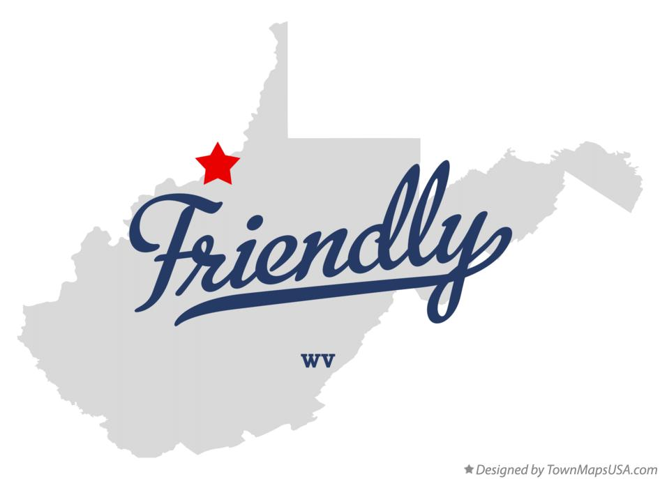 Map of Friendly West Virginia WV