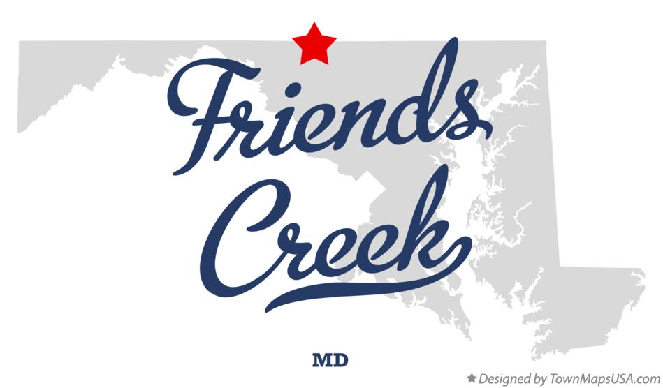 Map of Friends Creek Maryland MD