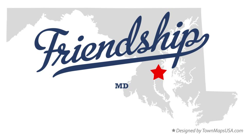 Map of Friendship Maryland MD