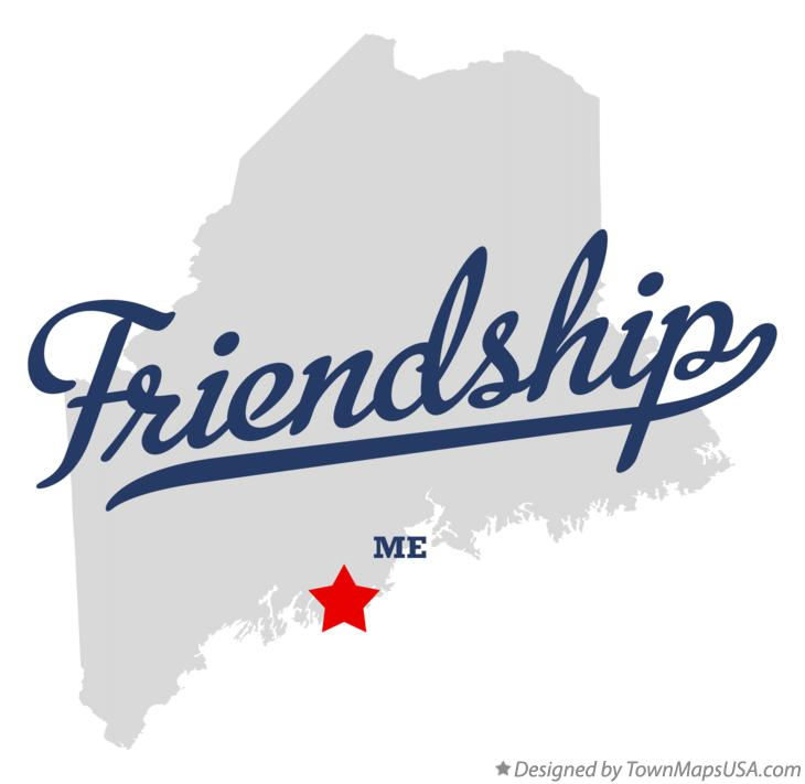 Map of Friendship Maine ME