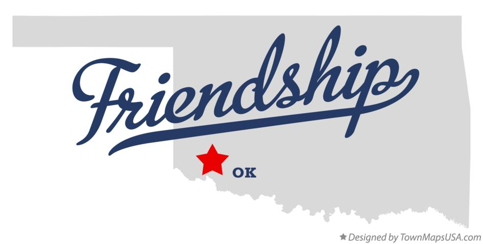 Map of Friendship Oklahoma OK