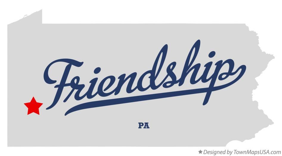 Map of Friendship Pennsylvania PA