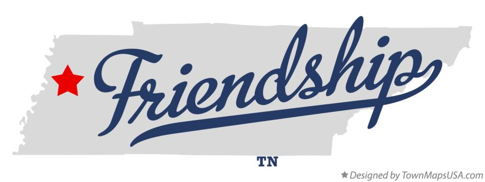 Map of Friendship Tennessee TN