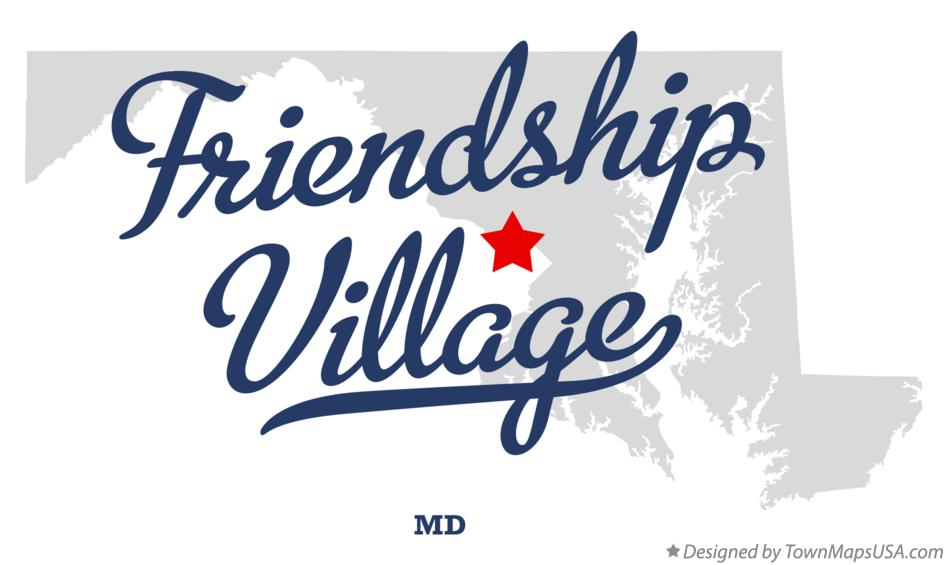 Map of Friendship Village Maryland MD