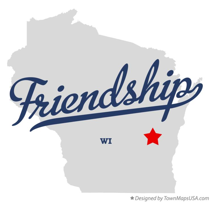 Map of Friendship Wisconsin WI