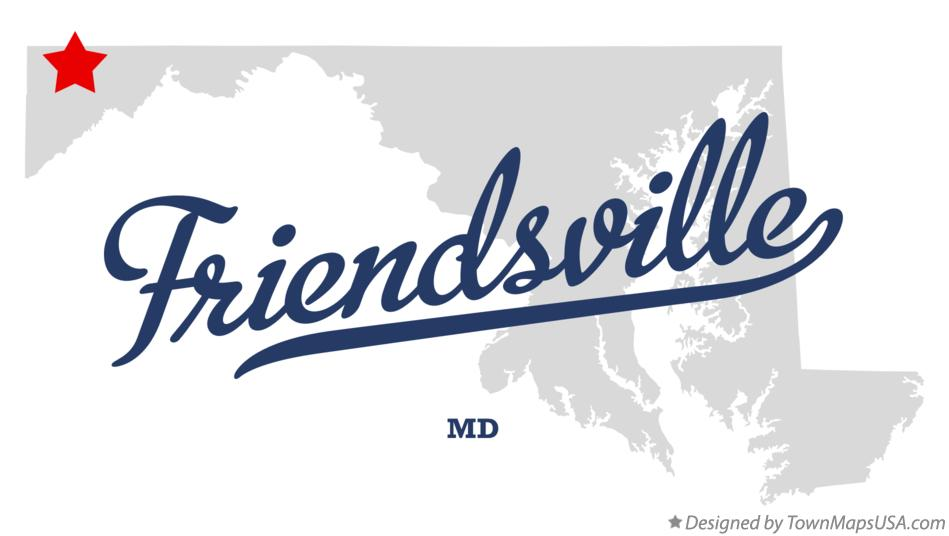 Map of Friendsville Maryland MD