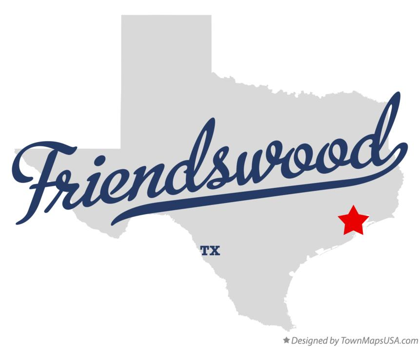 Map of Friendswood Texas TX