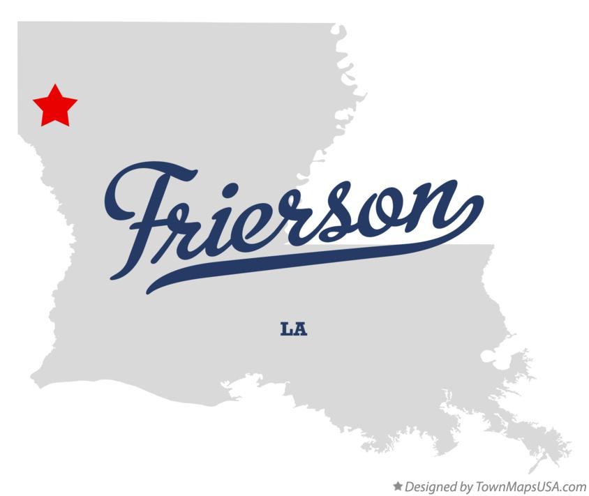 Map of Frierson Louisiana LA