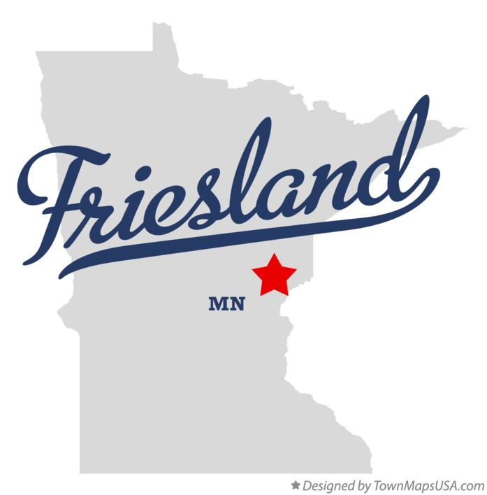 Map of Friesland Minnesota MN