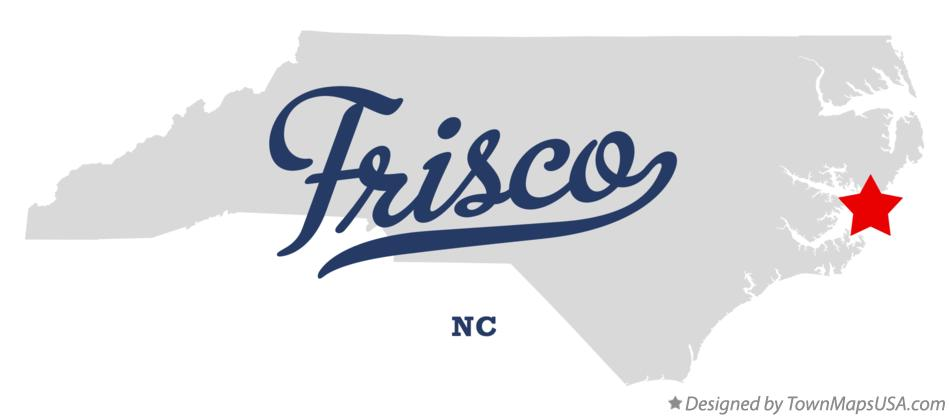 Map of Frisco North Carolina NC