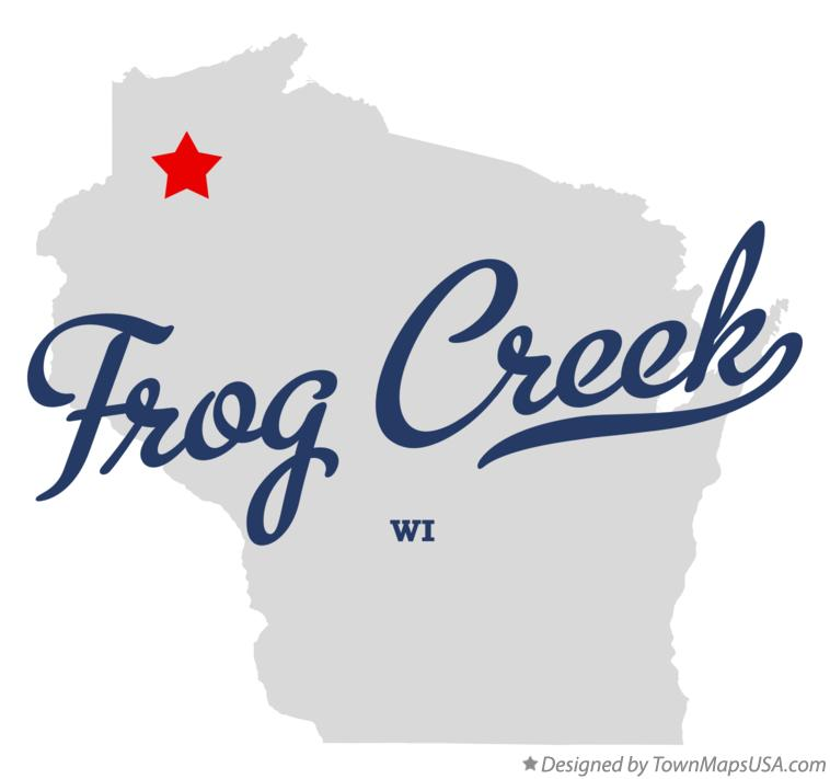 Map of Frog Creek Wisconsin WI