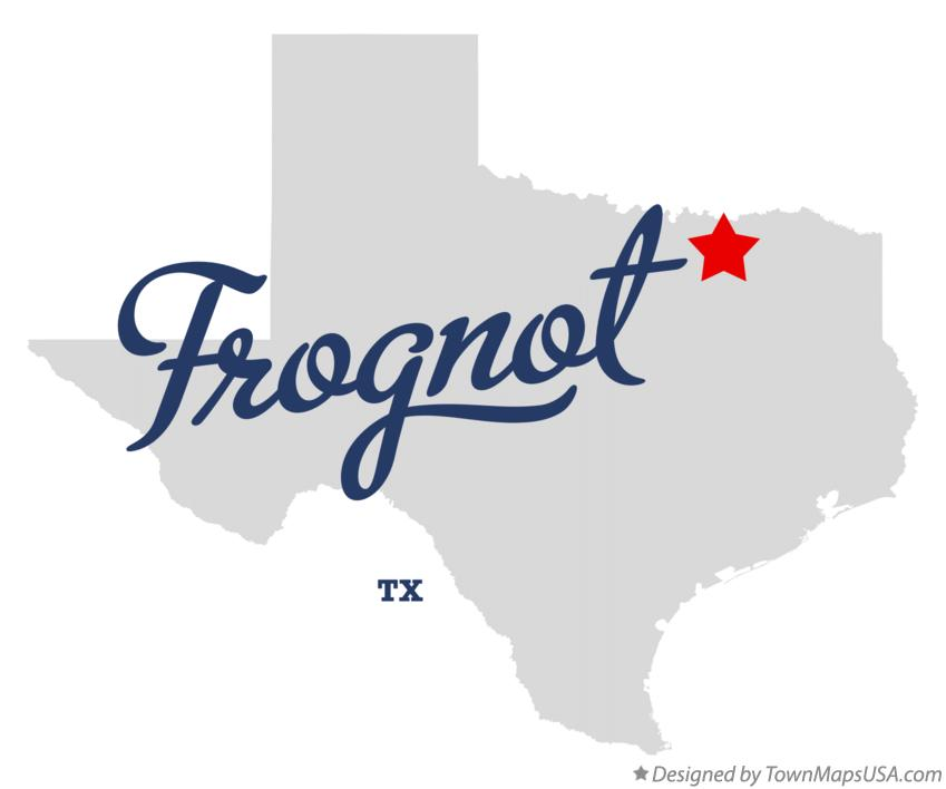 Map of Frognot Texas TX