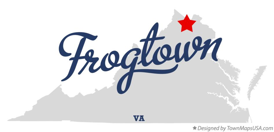 Map of Frogtown Virginia VA