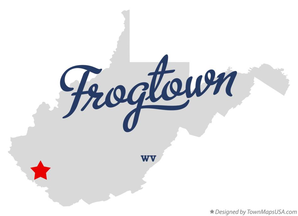 Map of Frogtown West Virginia WV