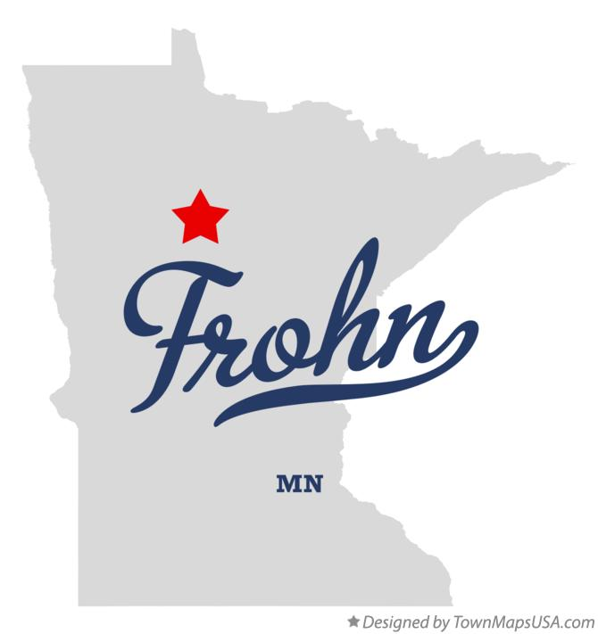 Map of Frohn Minnesota MN