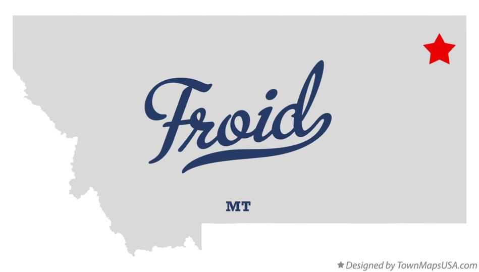 Map of Froid Montana MT