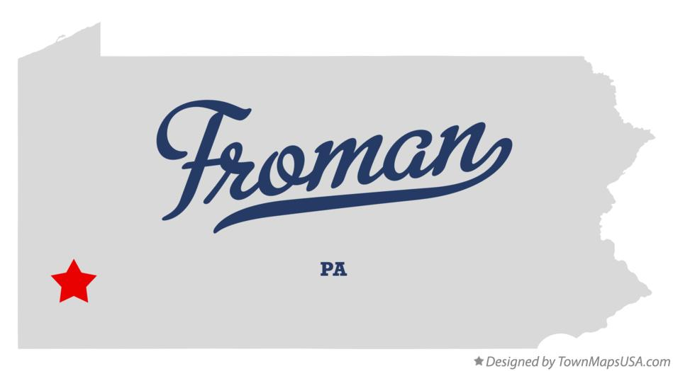 Map of Froman Pennsylvania PA